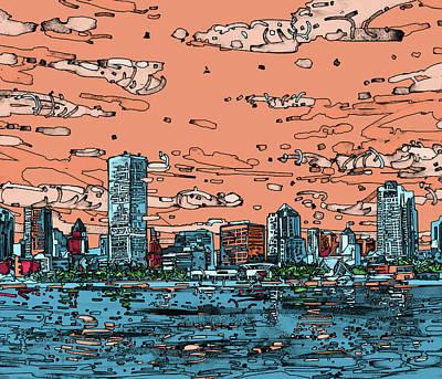 Milwaukee Skyline Panorama Poster