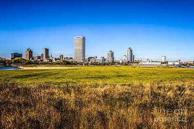Milwaukee Skyline Photo With Lakeshore State Park Poster