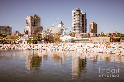 Milwaukee Skyline Picture Poster by Paul Velgos