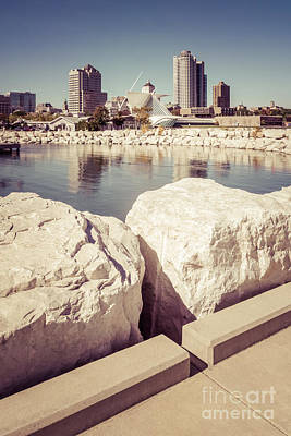 Milwaukee Skyline Retro Picture Poster by Paul Velgos