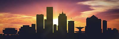 Milwaukee Sunset Uswiml-pa01 Poster