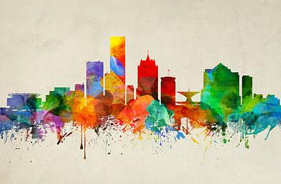 Milwaukee Wisconsin Skyline 22 Poster