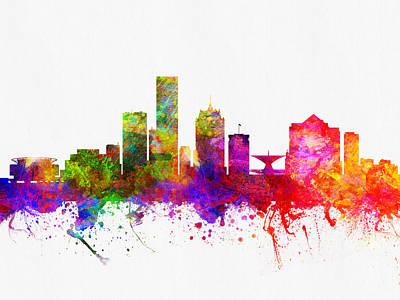 Milwaukee Wisconsin Skyline Color02 Poster