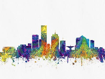 Milwaukee Wisconsin Skyline Color03 Poster