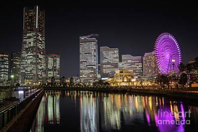 Minato Mirai At Night Poster