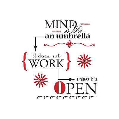 Mind Umbrella Poster by Linda Carruth