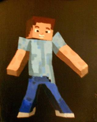 Minecraft Steve Poster by Sheri Keith via Jayd