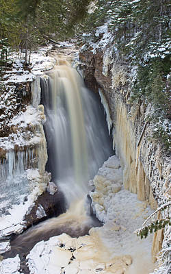 Miners Falls In The Snow Poster