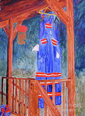 Poster featuring the painting Miner's Overalls by Sandy McIntire
