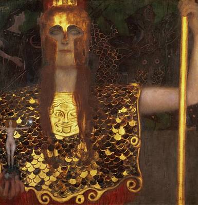 Minerva Poster by Gustav Klimt