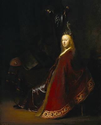 Minerva Poster by Rembrandt