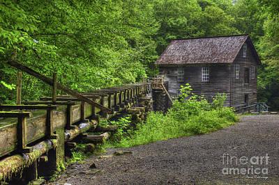 Mingus Mill 2 Mingus Creek Great Smoky Mountains Art Poster