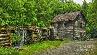 Mingus Mill 3 Mingus Creek Great Smoky Mountains Art Poster by Reid Callaway