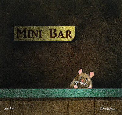 Poster featuring the painting Mini Bar... by Will Bullas