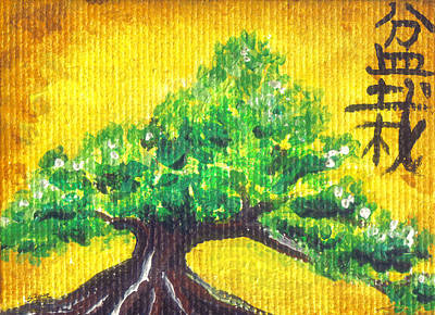 Poster featuring the painting Mini Bonsai by Shawna Rowe