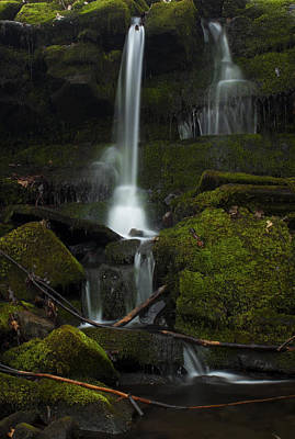 Mini Waterfall In The Forest Poster by Jeff Severson