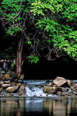 Mini Waterfall On The St Joe River After Rain Poster by S Michael Basly - PhotoGraphics By S Michael