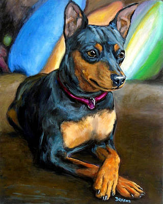 Miniature Pinscher Formal Poster by Dottie Dracos