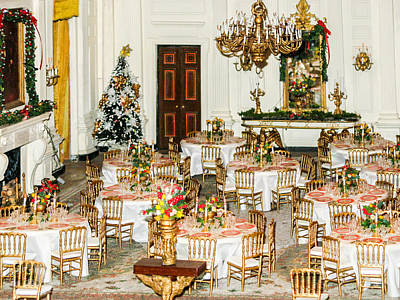 Miniature State Dining Room Of The White House  Poster