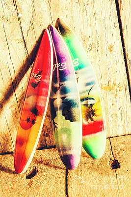 Miniature Surfboard Decorations Poster