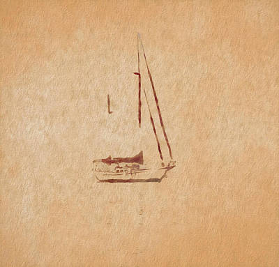 Minimalism Sailboat Poster by Dan Sproul