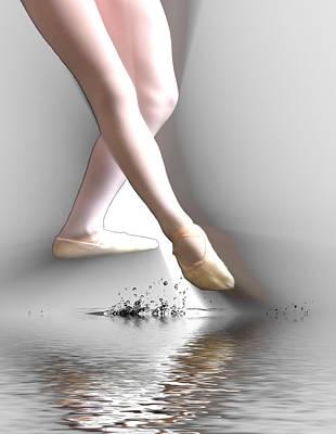 Minimalist Ballet Poster by Angel Jesus De la Fuente