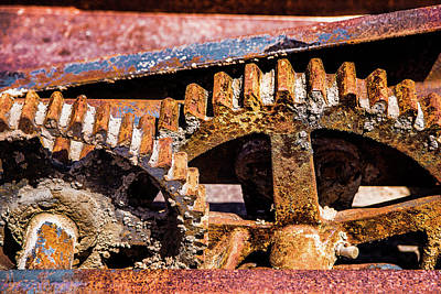 Poster featuring the photograph Mining Gears by Onyonet  Photo Studios