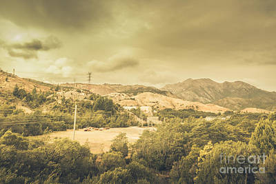 Mining Infrastructure In Queenstown Poster by Jorgo Photography - Wall Art Gallery