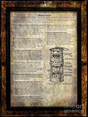 Mining Lamps Poster