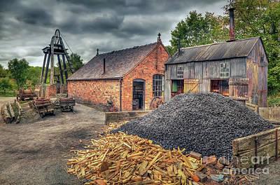 Mining Village Poster by Adrian Evans