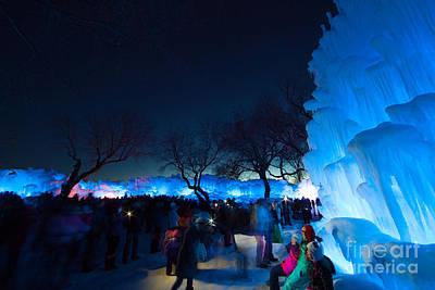 Minneapolis Ice Castles I Poster by Wayne Moran