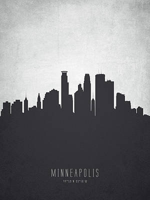 Minneapolis Minnesota Cityscape 19 Poster by Aged Pixel