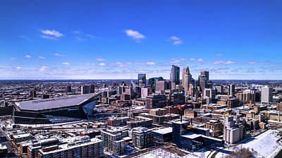 Minneapolis Skyline On A Sunny Day Poster