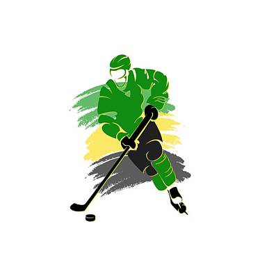 Minnesota North Stars Player Shirt Poster by Joe Hamilton
