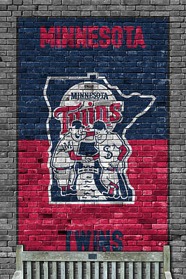 Minnesota Twins Brick Wall Poster by Joe Hamilton