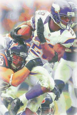 Minnesota Vikings Adrian Peterson 3 Poster by Joe Hamilton