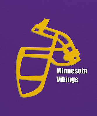 Minnesota Vikings Retro Poster by Joe Hamilton
