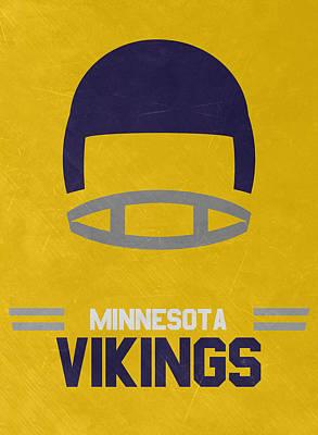 Minnesota Vikings Vintage Art Poster