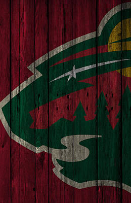 Minnesota Wild Wood Fence Poster by Joe Hamilton