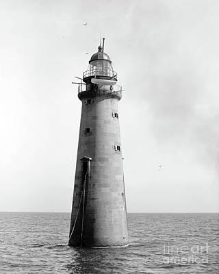 Minot's Ledge Lighthouse, Boston, Mass Vintage Poster