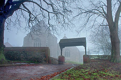 Minster Abbey Fog Bound Poster