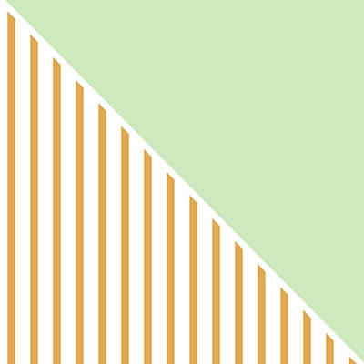 Mint And Gold Geometric Poster by Linda Woods