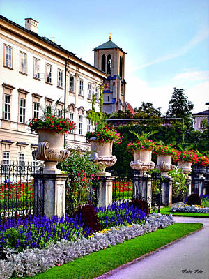 Mirabell Palace And Gardens Poster by Kathy Kelly