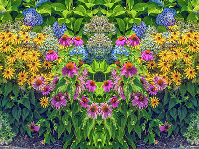 Flowers Pareidolia Poster