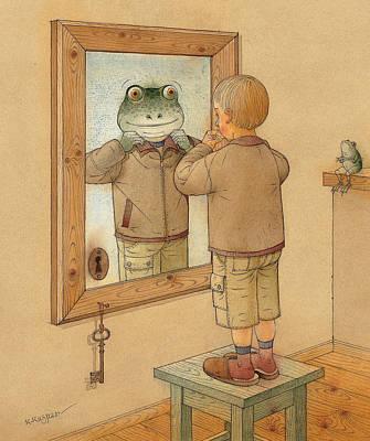 Mirror Poster by Kestutis Kasparavicius