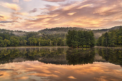 Bass Lake Sunrise - Moses Cone Blue Ridge Parkway Poster