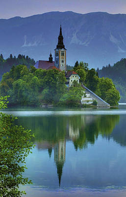 Mirrored Church At Sunrise Poster by Don Wolf