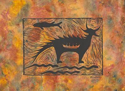 Mishepeshu Poster by Ingrid  Schmelter