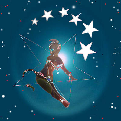 Miss Fifiswinging On A Star Poster by Silvia  Duran