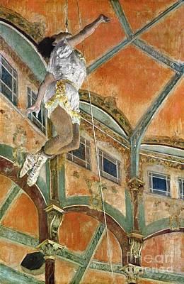 Miss La La At The Cirque Fernando Poster by Edgar Degas